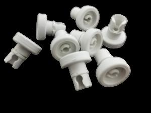 Upper Basket Wheels (Set of 8 Pieces) for Electrolux AEG Zanussi Dishwashers - 50269970005