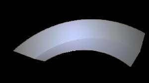 Original Door Handle (White) for Gorenje Mora Washing Machines - Part. nr. Gorenje / Mora 333855